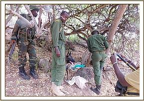 Poachers hideout found together with the dog unit