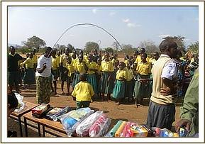 Sports equipment donated to Tsavo primary school