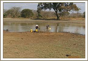 Water harvesting at Usalama waterhole