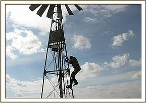 Repairing the Ndara windmill