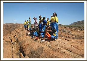 kajire pupils at mudanda rock