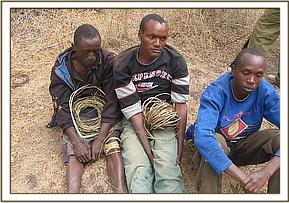 The three arrested poachers
