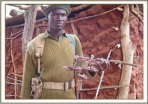 Bushmeat being held by a KWS ranger