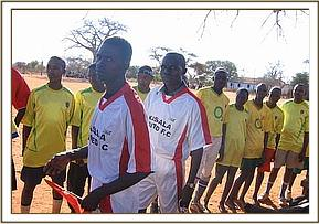 The teams were given new uniforms by DSWT