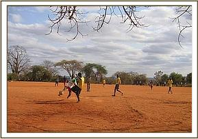 A football match in progress