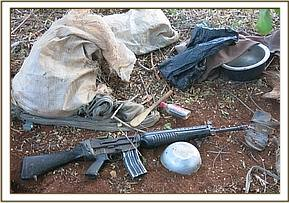 Guns retrieved from the poachers