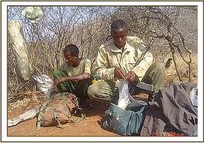 Inspecting the poachers wares