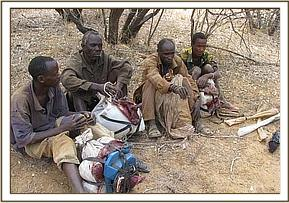 The four arrested poachers