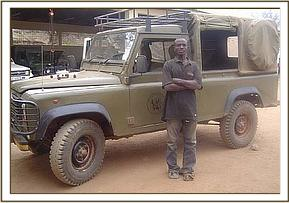 A suspected poacher arrested by the team