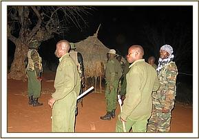 Conducting a raid in a poachers home
