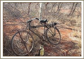 A charcoal burner bicycle recovered in the Park