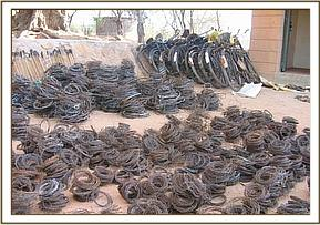 Retrieved snares and confiscated bicycles