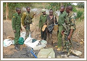 Arrested poacher and charcoal burner