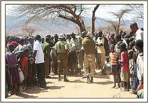 The arrival of the DSWT Rescue team