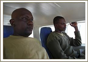 Patrick and Guyo on the rescue plane