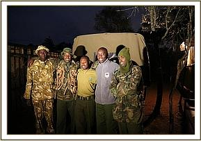 The Meru Vet unit and KWS rangers that rescued Bongo