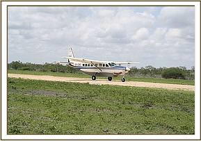 The second rescue plane arriving today 30th October at the Masilani airstrip