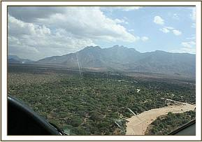 Flying into the Namunyak airstrip
