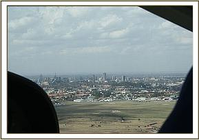 After take off and departing Nairobi