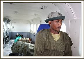 Amos in the rescue plane