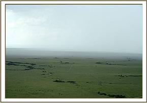 The mara landscape as the plane is leaving