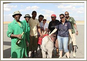 The Amboseli Trust for Elephants team who helped rescue the calf