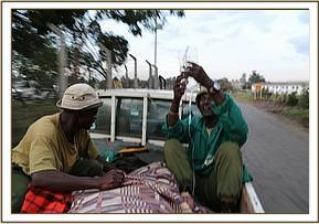 Die Fahrt zurück zum Waisenhaus in Nairobi