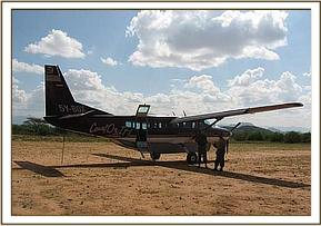 The rescue plane on Sasaab Airstrip