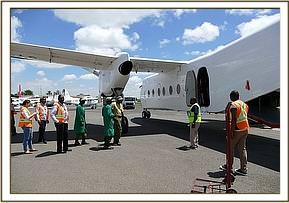 Am Wilson-Flughafen in Nairobi