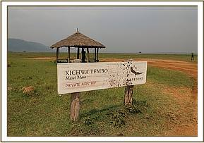 The airstrip at Kichwa Tembo
