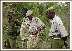 KWS personel that helped rescue the calf