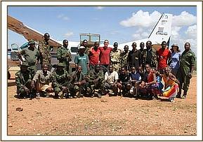 The rescue team from Save the elephant and KWS rangers