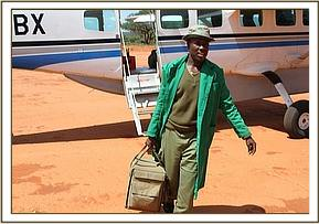 The Keepers arrive at the Voi airstrip