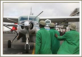 The rescue team for Kudup head to the plane