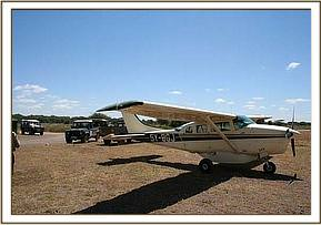 Richard Bonham's plane,  which flew around the area in an attempt to find the abandoned calf's family herd.jpg
