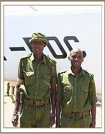 Two of the rangers involved in Kimana's rescue.