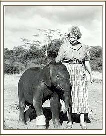 Olmeg 1 year old with Daphne Sheldrick
