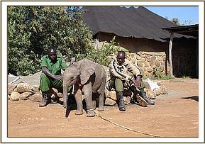 Makena with the rangers that rescued her
