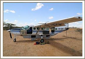Das Rettungsflugzeug
