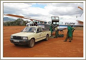 The Rescue vehicle at the airstrip