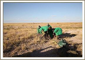 The DSWT rescue team securing Faraja