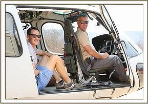 Die Piloten kommen in Tsavo an