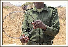 The snare that was removed from the Impala