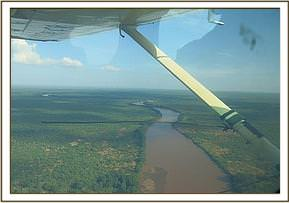 Flying over a river on the census