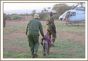 DSWT Helicopter arrives