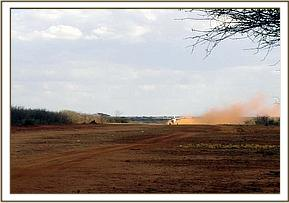 The rescue aircraft takes off with the calf & the DSWT elephant keepers