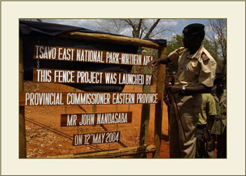 Opening of the Electric fence,Tsavo East Northern Area