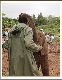 Ndomot with Benson one of his keepers