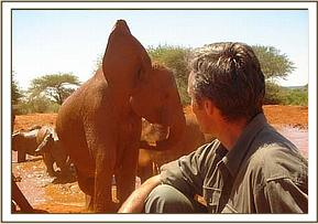 Jonathan Scott filming Elephant Diares two
