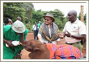 First Lady Margaret Kenyatta with Edwin